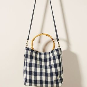 NWT | Anthropologie Fiona Bamboo-Handle Tote Bag